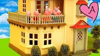 Juguetes de Peppa Pig en español y casa de muñecas Calico Critters - Juguemos con Andre