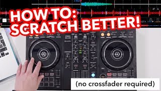 DJ Scratching Tutorial: Different timings with baby scratch!
