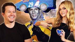 Mark Wahlberg singing with Transformers 4 - Jack Reynor, Nicola Peltz, Li BingBing, Daniele Rizzo