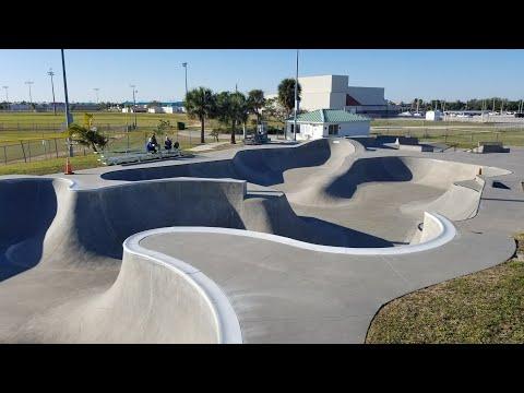 One Run Through the Cocoa Beach Florida Skate Park (  No bikes allowed )