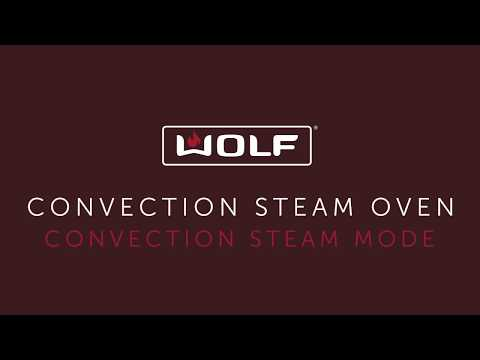 Wolf Convection Steam Oven touch controls - Convection Steam Mode - Ribs