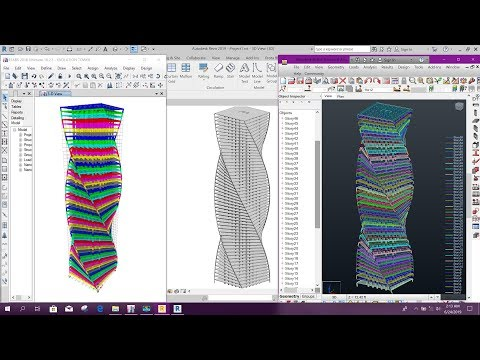Etabs to Revit to Robot Structural Analysis