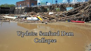 Update: Sanford Flood 2020 - Drone - Dam Collapse