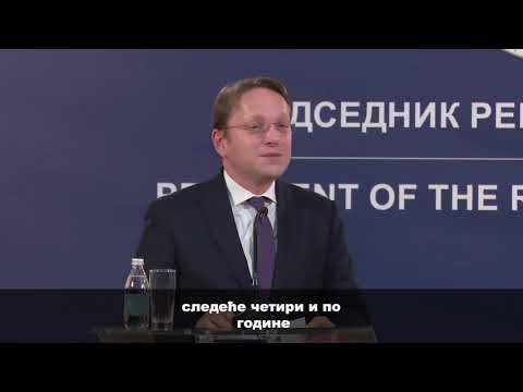 Prva zvanična poseta komesara Varheja Srbiji