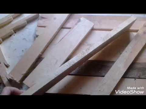 Идея для дома из обрезков. Или как состарить древесину.