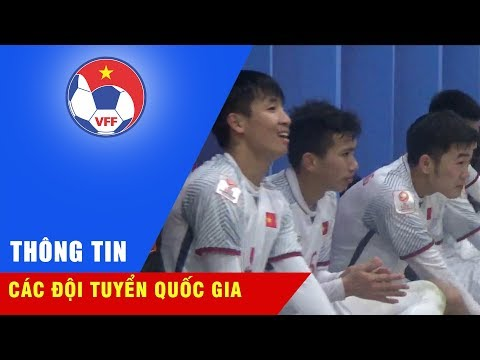 Niềm vui của BHL và các cầu thủ U23 Việt Nam sau kì tích lọt vào tứ kết VCK U23 châu Á 2018