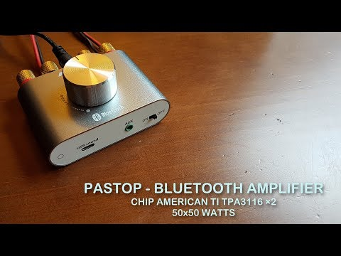 Pastop - Amplificador Bluetooth 50x50 Watts