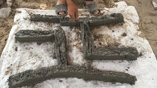 Construction A Concrete Chair With Sand And Cement Easy - Build Creative, Skill & Sand