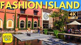 Upscale Mall | Fashion Island In Newport Beach California USA | 4K Walking Tour