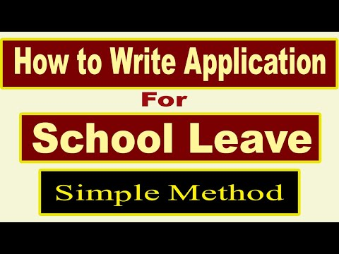 How to write Leave application | Writing leave application for School