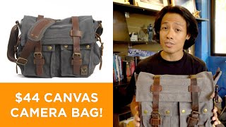 A ₱2,300 ($44) CANVAS CAMERA BAG That's Actually Worth It