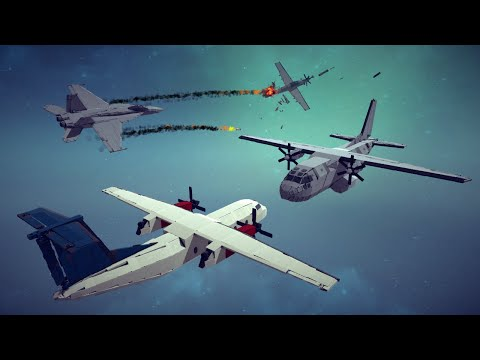 Spectacular Airplane Crashes, Shoot Downs, Midair Collisions and More #6   Besiege