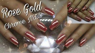 HOW TO: ROSE GOLD CHROME  NAILS | NINJA FAIRY
