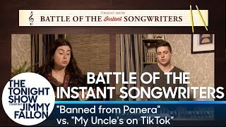 """Battle of the Instant Songwriters: """"Banned from Panera"""" vs. """"My Uncle's on TikTok"""""""