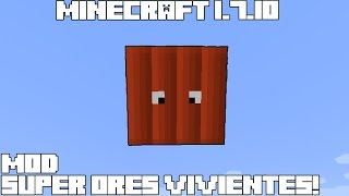 Minecraft 1.7.10 MOD SUPER ORES VIVIENTES! Revenge Of The Blocks Mod Review Español!