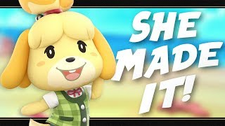 ISABELLE IS IN SMASH ULTIMATE!