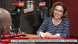 Wideo1: O czym PO chce rozmawiać z Polakami - wicemarszałek Sejmu Małgorzata Kidawa-Błońska