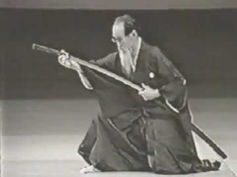 Yoshio Sugino, 10th Dan Master of Katori Shinto Ryu, one of the oldest extant Japanese martial arts. He was the sword fight choreographer in Akira Kurosawa's 'Seven Samurai'.