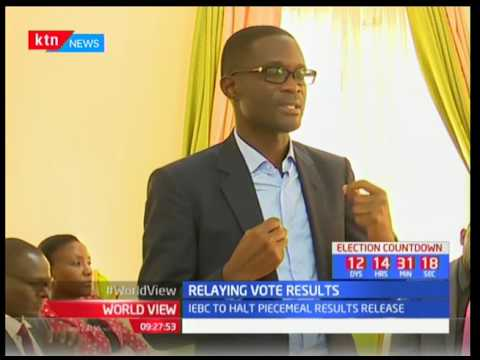 IEBC over holds the manner in which election results will be announced, Relaying vote results