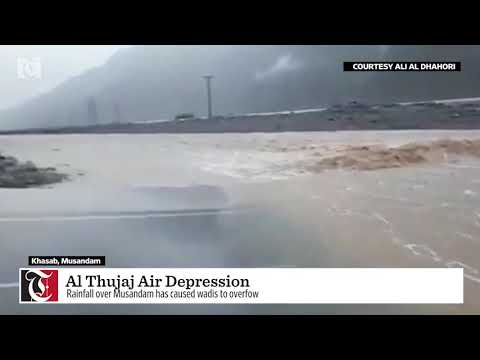 ​Watch: Wadis flowing due to rains in this part of Oman