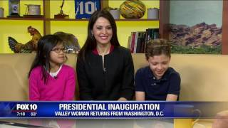 Valley family returns from the inauguration