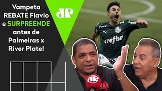 Vampeta rebate Flavio Prado e surpreende com palpite para Palmeiras x River Plate