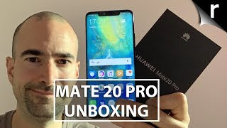 Huawei Mate 20 Pro Unboxing and Tour