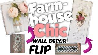 DIY Farmhouse Chic Wall Decor Makeover