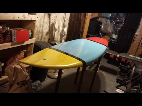 6'2″ Shortboard Surfboard Construction Time-lapse