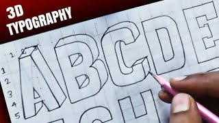 3D Alphabet Letters Of English |  Typography Tutorial  [Tabrez Arts]
