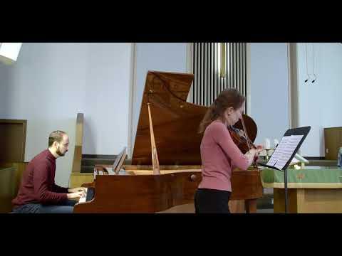 A. Corelli Violin Sonata A-major, op.5, no. 6 movements 1-2 Violin-Tatiana Zueva  Piano - Dmitri Kristalinsky
