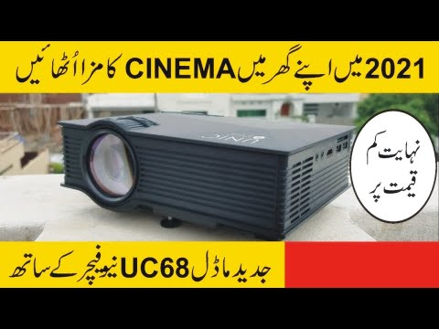 Wifi Projector  Unic Uc 68 Model 1800 Lumens Power .20000 Hours Lamp Life.