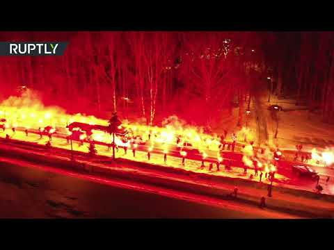 Fans charge up Zenit squad with fire show before match with Fenerbahce in St. Pete