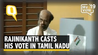 2019 Elections | Rajinikanth Casts His Vote in Chennai, Tamil Nadu | The Quint