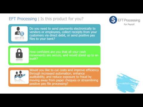 EFT Processing for Sage 300 (Payroll) - Training - YouTube