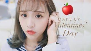 🍎Valentine's Day APPLE RED MAKE UP\情人節清新約會妝 ♡ BabyShadow