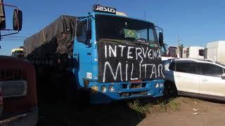 A greve dos caminhoneiros em Santa Maria