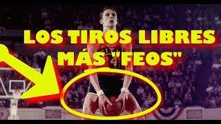 ¡LOS TIROS LIBRES MÁS RAROS DE LA NBA EN LA HISTORIA! (RECOPILACIÓN)
