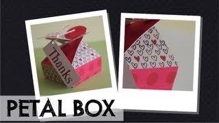Petal box -- Caja con solapa de pétalos