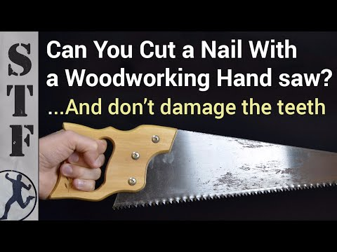 Cut A Stuck Nail Or Screw With This Woodworking Hand Saw Trick