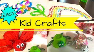 Easy Kids Crafts | Crafts For Kids And Toddlers | At Home Activities For Toddlers