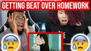 Young Don the Sauce God Getting Beat Over Homework - Reaction !!