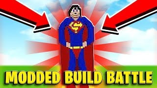 3 Player Super Hero Themed Build Battle W/ Tewtiy - Minecraft Modded Minigame | JeomreASF