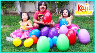 Giant Easter Eggs Hunt In The Backyard With Ryan Emma And Kate!!!