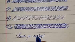 Handwriting tutorial #1। HT#1।How to strokes practice। cursive handwriting । Hand movements।।