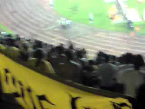 """""""Tiburon que putos que son"""" Barra: Rebelión Auriverde Norte • Club: Real Cartagena"""
