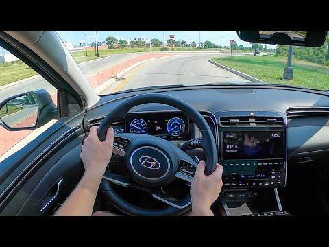 2022 Hyundai Tucson Hybrid Limited AWD - POV Test Drive (Binaural Audio)