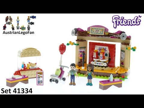 Vidéo LEGO Friends 41334 : La scène de spectacle d'Andréa