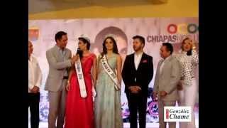 Maria Fernanda Cordova Carrillo Nuestra Belleza Chiapas 2014 Coronation