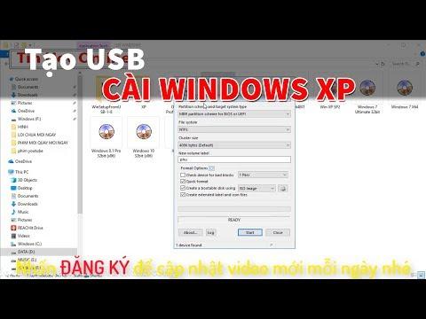 Tạo USB cài WinXP đơn giản nhất (Có link tải)